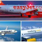 Las 3 aerolíneas low cost más utilizadas en Europa
