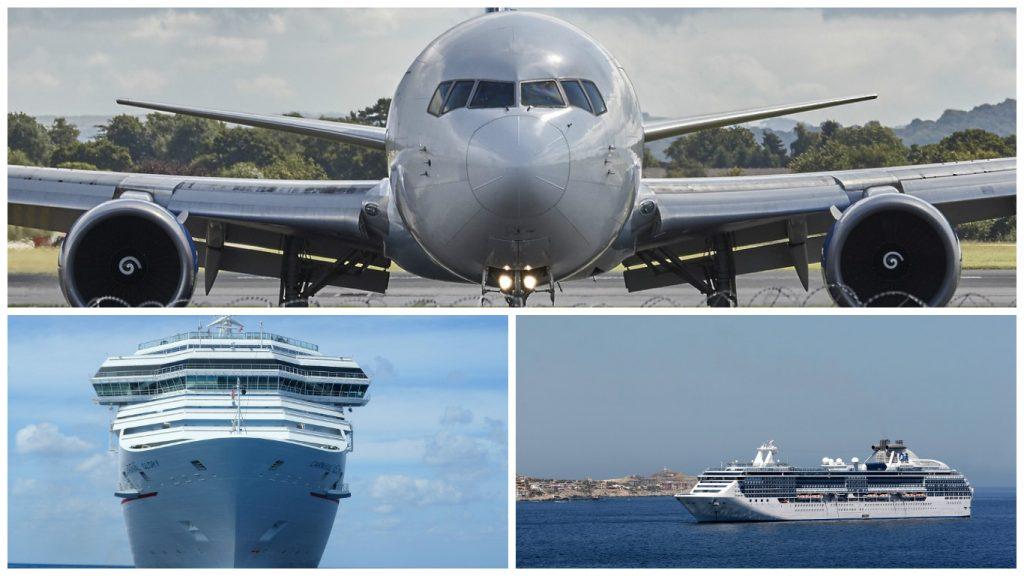 Viajar en barco o avión