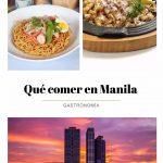 Comer en Manila